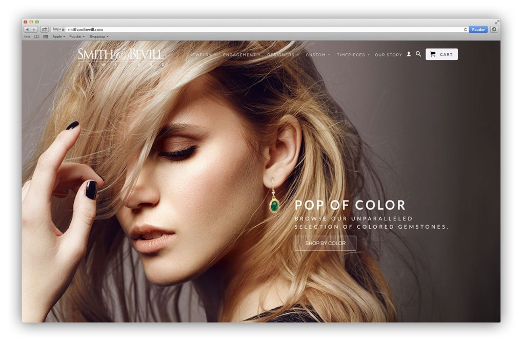 Smith& Bevill Jewelers Website Redesign