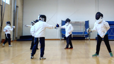 OCRA fencing and archery camp, Feb 2018