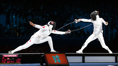 London WomenTeam Fencing, Korea.net / Korean Culture and Information Service viaWikimedia Commons