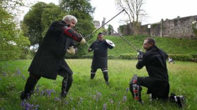 Swords on Sunday at Okehampton Castle
