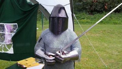 WDS Okehampton castle 2017/05/14 knight