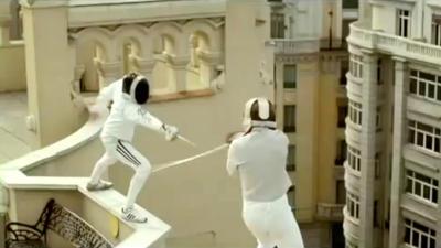 Fencing in an Adidas Deodorant Ad (2010)