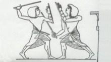 Egyptian sword practice