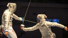 International sabre fencing