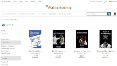 Books also listed on Waterstones