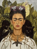 Frida Kahlo, Self-Portrait with Thorn Necklace and Hummingbird, 1940,