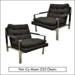 pair cy mann chairs