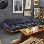 SOLD pearsall sofa blue mohair