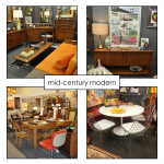 large selection of mid-century modern furnishings