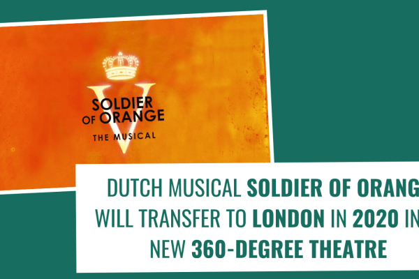 Dutch musical SOLDIER OF ORANGE coming to London in 2020