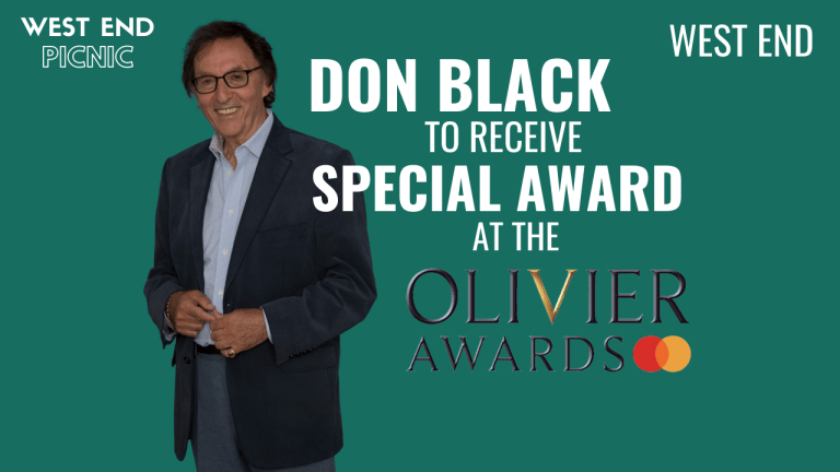 Don Black to receive Special Award at Olivier Awards 2020 with Mastercard