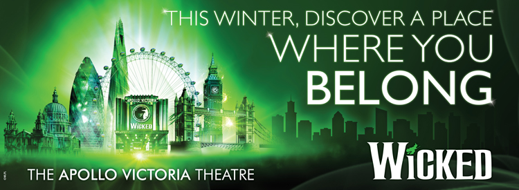 Wicked at the Apollo Victoria Theatre in the West End