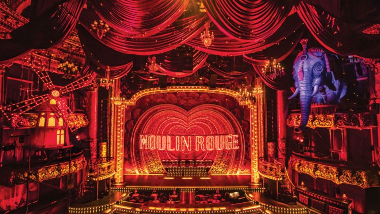 Moulin Rouge The Musical at the Piccadilly Theatre in London's West End Theatreland