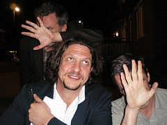 Jay Rayner with the West End Whingers