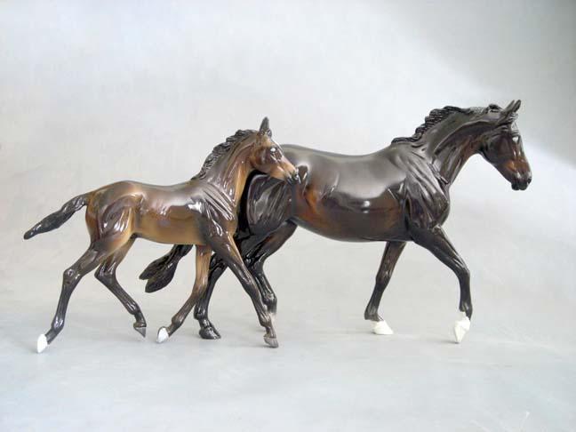 BREYER GISELE & GILEN sculptures by Brigitte Eberl