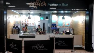 Front view of eeffie's Ice Cream Shop, Ennis