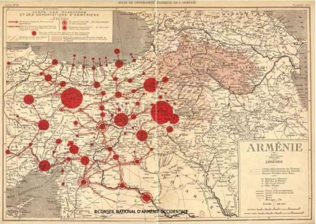 Carte de l'Arménie en 1919