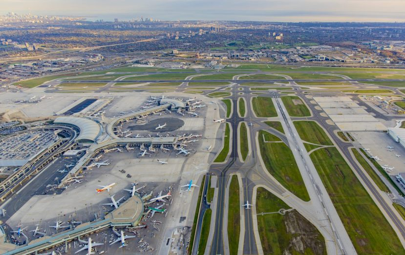 Toronto airport terminals and runways
