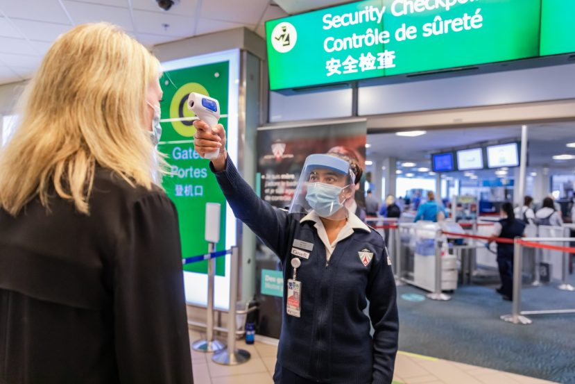 temperature check at airport