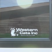 Western Cats Window Sticker
