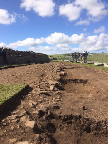 The East Ditch Trench after just 1 week of excavation