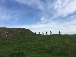Group Hiking to Birdoswald