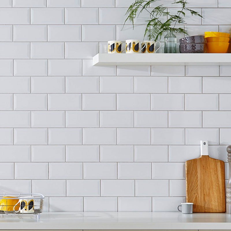 hand made look greige subway tile