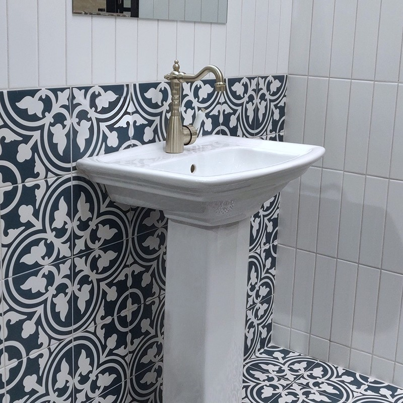 shadow navy blue feature tile