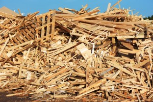 wood waste for trash removal