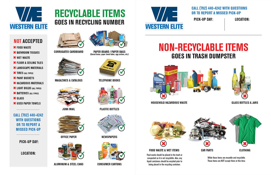 Recycling Materials Flyer