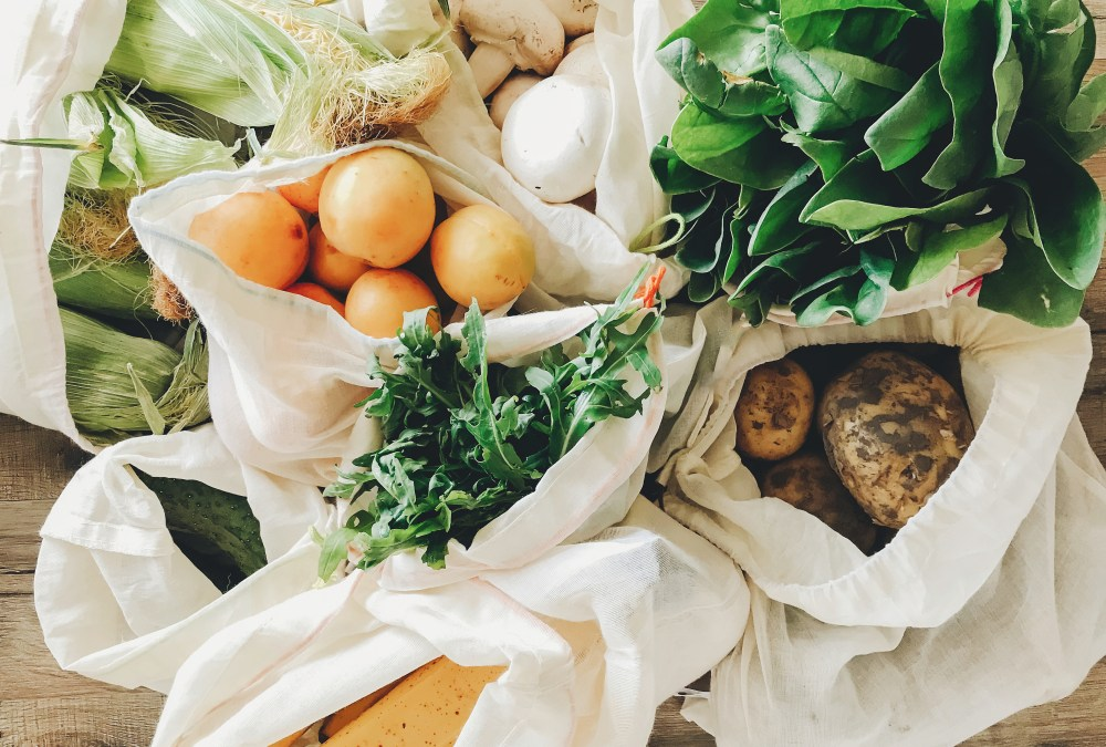 reusable bags with produce