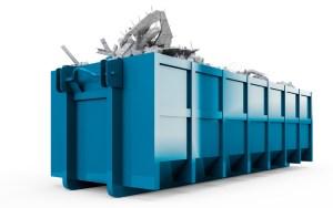 western elite blue dumpster
