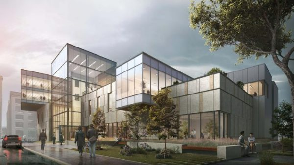 In the heart of Winnipeg, Manitoba's Exchange District, a building of cutting-edge design is on its way up. Soon, the RIC will dazzle pedestrians and employees while acting as a hub for agri-food research and product innovation.