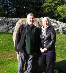Grahame & Susan at Clava Cairns Sept. 2011