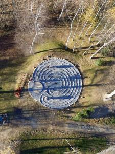 Mandali labyrinth drone shot