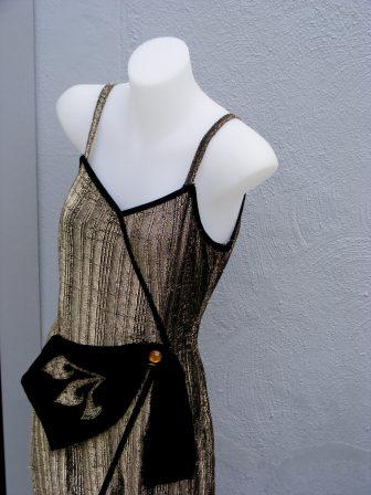 Dress on display in Oh Henry Vintage.