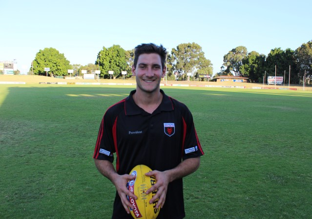 Stomping ground: Aidan Tropiano at Perth's home ground in Lathlain