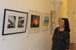 Victoria Park Centre for the Arts 2015 Photography Peoples Choice award winner Bridgett Atkinson, admiring 2016 pieces.