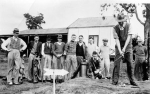 Teeing off- The Kalamunda Golf Course in its hey-day, the 1950's. Credit: The Kalamunda Historical Society