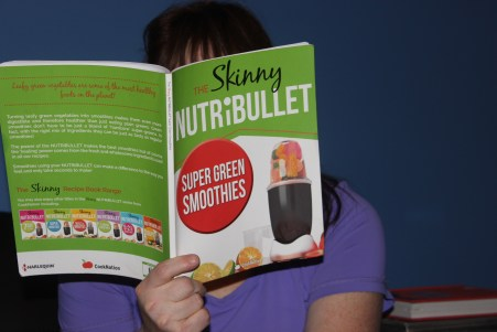 Kate, who has recently lost 40 kilos, loves to make smoothies in her NutriBullet. Photo: Joanna Delalande