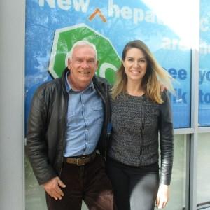 Frank Farmer & Nadia Cleber infront of Hepatitis WA's head office