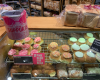 Pink buns at Bakers Delight