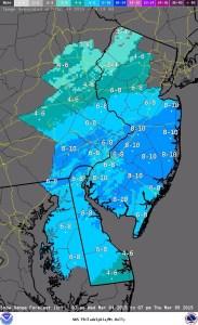 imageNWS Snow Forecast for Thursday