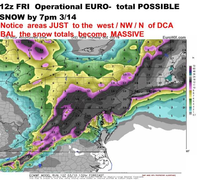 One computer model forecast of Tuesday outcome