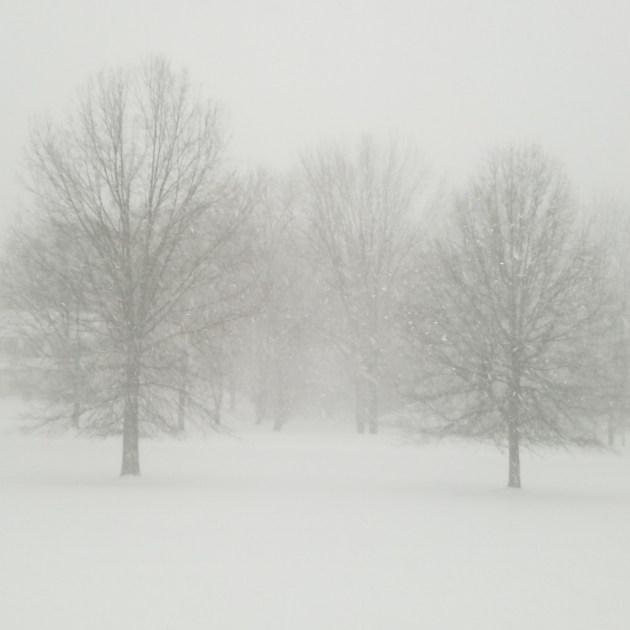 Heavy snow in Stewartsville, NJ