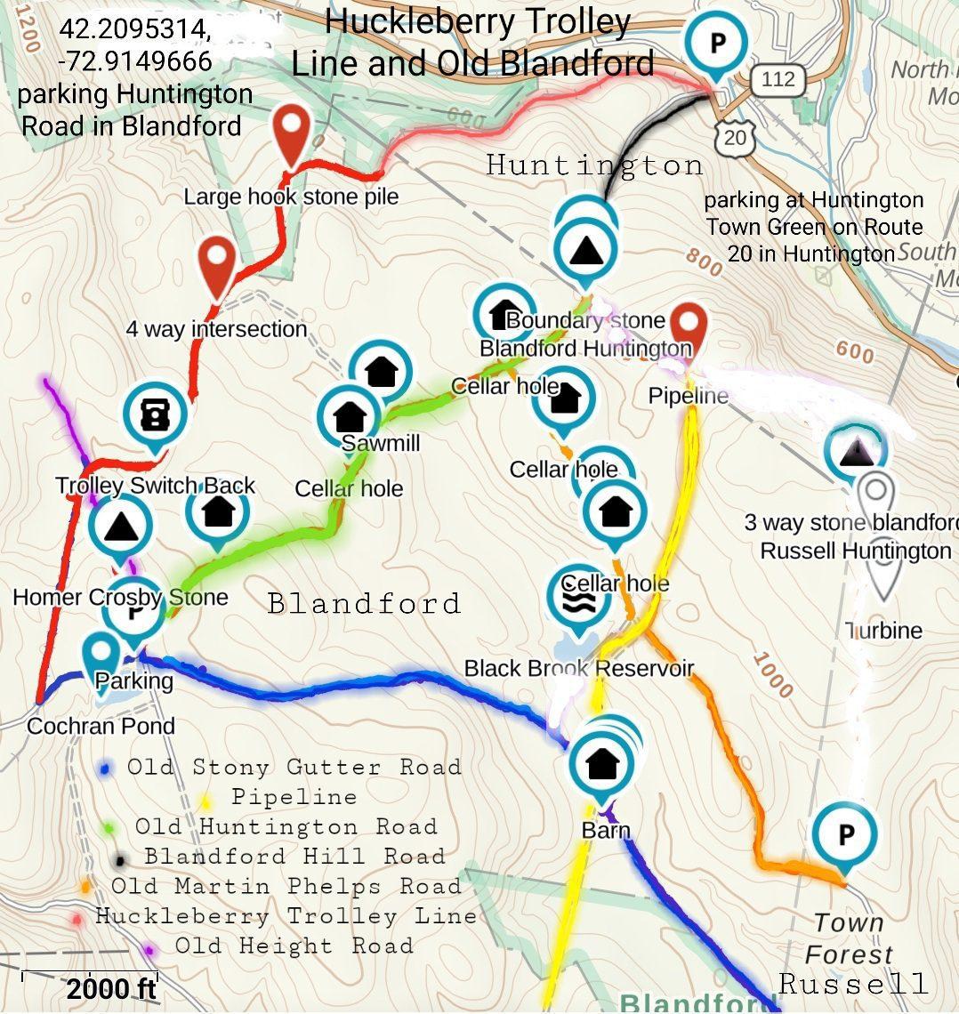 Blandford Huckleberry Trolley Line and Old Blandford