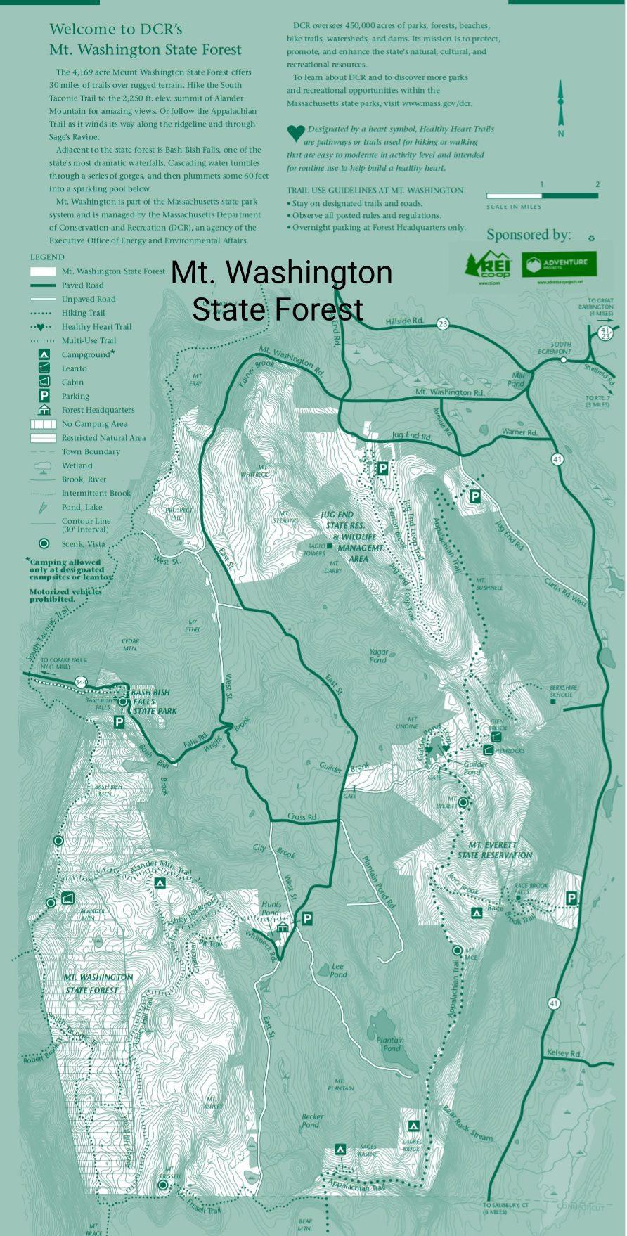 Mt Washington State Forest enlarged