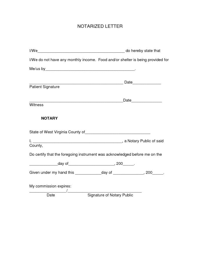 Where Do You Get A Letter Notarized Save Template