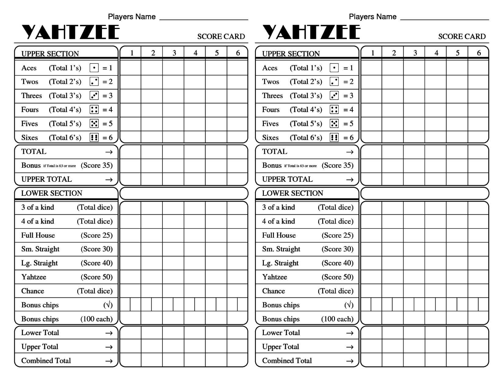 photo relating to Printable Yahtzee Score Card Pdf referred to as Countrywide Working day Of Reconciliation The Speediest Yahtzee Rating