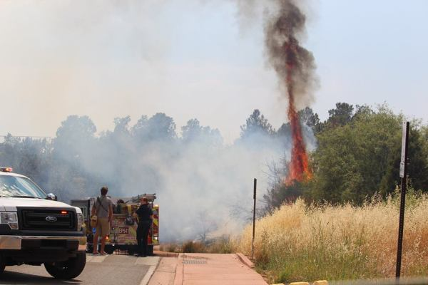 Charcoal briquettes spark brush fire in Sedona | The Verde ...